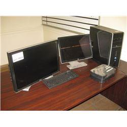 HP I5 COMPUTER / PAIR OF MOINTORS / APC BACKUP