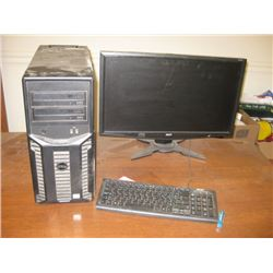 DELL XEON CPU AND MONITOR