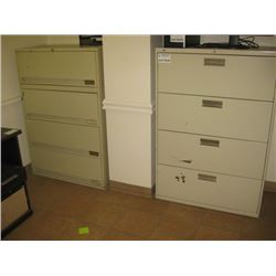 PAIR OF 4 DR FILE CABINET