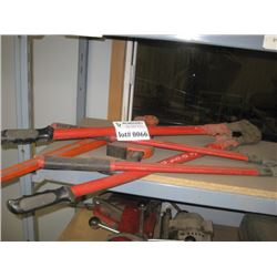 PAIR OF CUTTERS AND PIPE WRENCH