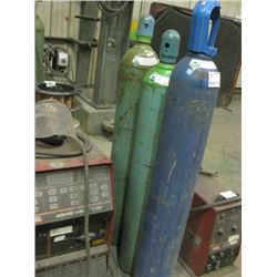 3PC CO2 AND COMPRESSED GAS BOTTLES