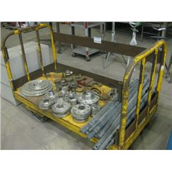 YELLOW WAREHOUSE CART WITH STOCK