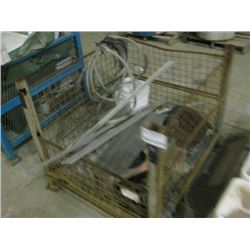 METAL CRATE WITH MISC