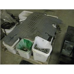PALLET OF BUCKETS OF HARDWARE AND PARTS