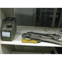 GAS CAN AND HAND TOOLS