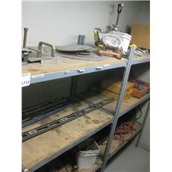 CONTAINTS ON SHELVING GUIDES / LIGHTS /  CORDS / HANDTOOLS PARTS