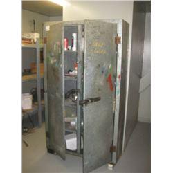 DOUBLE DOOR PAINT CABINET AND MISC