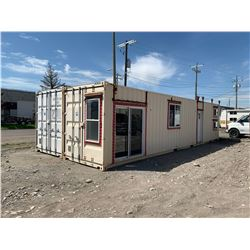 DOUBLE 40FT CONTAINER OUT BUILDING 60% CONVERTED LIVING QUARTERS