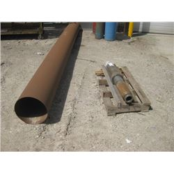 LARGE ROUND PIPE AND THREADED END PIPE