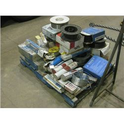 PALLET OF WELDING ROD AND WIRE