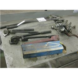 4PC MISC BENDERS AND RIDGID CHAIN VISE