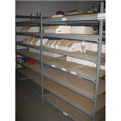 TWO SECTIONS SHOP SHELVING