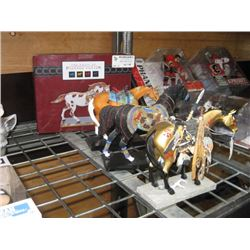 SET OF 4 THE TRAIL OF PAINTED PONIES