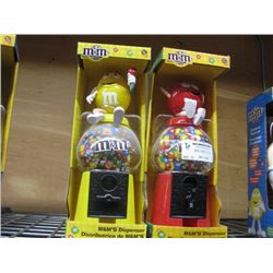 SET OF 2 M AND M'S CANDY DISPENSER