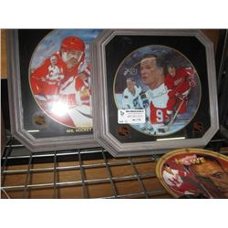 SET OF 3 ASSORTED HOCKEY PLAYERS PLATES