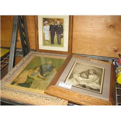 SET OF 3 ASSORTED PICTURES IN FRAME OF ROYAL FAMILY