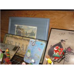 ASSORTED WALL DECOR AND FRAMES