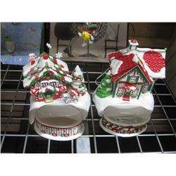 SET OF 2 M AND M´S CHRISTMAS CANDY DISH