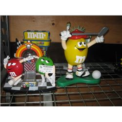 ASSORTED M AND M´S COLLECTOR CANDY DISPENSER OUT OF BOX
