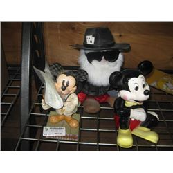 ASSORTED MICKEY MOUSE FIGURES