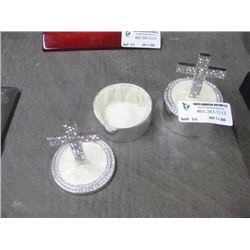 SET OF 2 BAPTISM JEWELRY BOXES