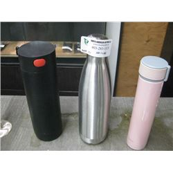 SET OF 3 ASSORTED WATER BOTTLES