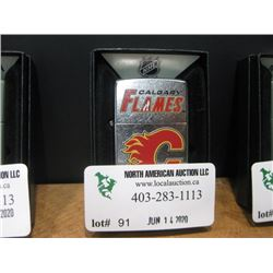 NEW ZIPPO POLISHED CALGARY FLAMES LIGHTER