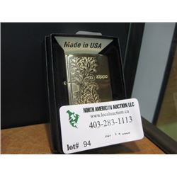 NEW ZIPPO FUSION PAISLEY BRASS LIGHTER