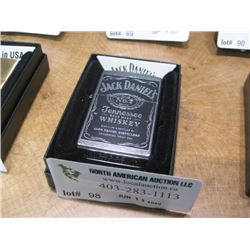 NEW ZIPPO POLISHED JACK DANIELS LIGHTER