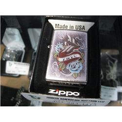 NEW ZIPPO VINTAGE TATTOO LIGHTER