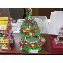 M AND M´S CHRISTMAS TREE CERAMIC COOKIE JAR