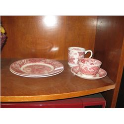 PINK FAR LANDSCAPE MATCHING DINNER SET