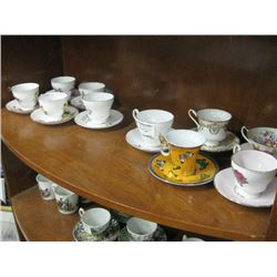 SET OF 10 ASSORTED TEA CUPS WITH SAUCER