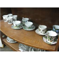 SET OF 6 ASSORTED TEA CUPS WITH SAUCER AND 4 MATCHING MUGS