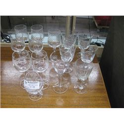 ASSORTED WINE GLASSES