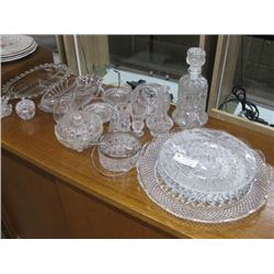 ASSORTED GLASS DINNER SETS