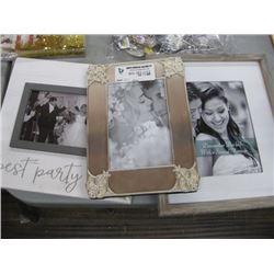 SET OF 3 ASSORTED WEDDING FRAMES