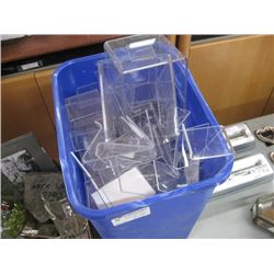 BIN OF PICTURE STANDS