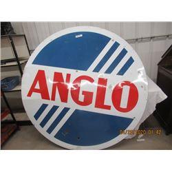 "VI- Porc Anglo 65"" Rd 2 Sided VIntage"