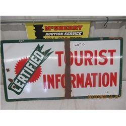 "LZ - Porc BA tourist Information 19"" x 37"" 2 sided Vintage"