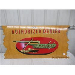 """CH- Wood Paceship Autorized Dealer 24"""" x 48"""" 2 Sided - Vintage"""