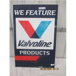 "Y- Metal Valvoline Products 24"" x 36"" 2 Sided Vintage"