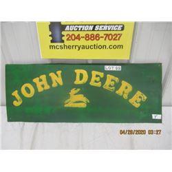 """Y-Metal Embossed John Deere 13"""" x 34"""" VIntage Cut Out"""