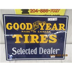 """CH-Porc Goodyear Tire Selected Dealer 18"""" x 24"""" 2 Sided - Modern"""