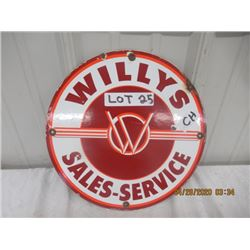 """CH- Porc V W Willy's Sales Service 12"""" Rd Age- ???"""