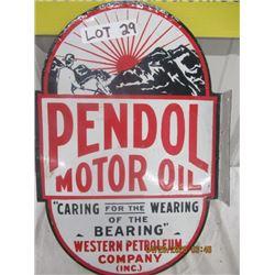 "CH- Porc Pendol Motor Oil Flange 18"" x 12"" 2 Sided - Modern"