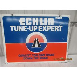 """Y- Metal Echlin Tune Up 2 Sided Sign 27"""" x 36"""" VIntage"""