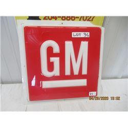 "VI- Fibreglass Embossed GM 17.5"" x 17.5"" Original - Not That Old"