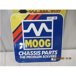 """VI- Metal Moog Chassis Parts 18"""" x 18"""" Original Not That Old"""