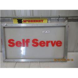 """CZ- Fibreglass w Alum Frame Self Serve 20"""" x 34"""" - Original Not That Old"""